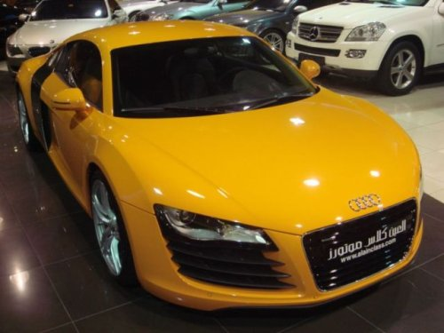Audi R8 in Gelb/Orange